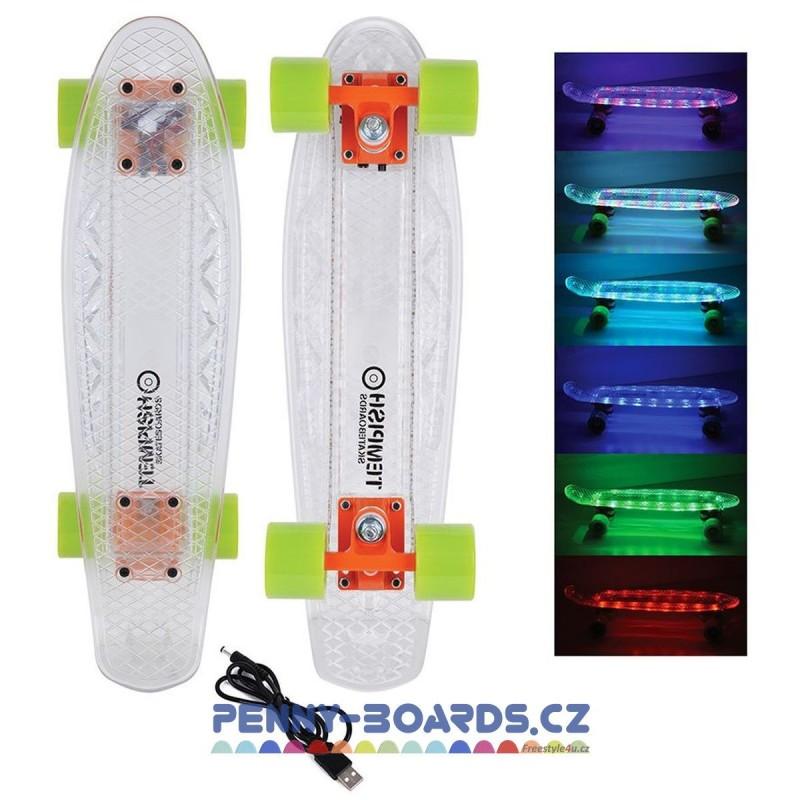 "Pennyboard LED TEMPISH BUFFY I-FLASH USB AKU 22""|55,5cm"