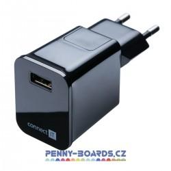 Nabíječka USB CONNECT IT CI-254 2,1A BLACK