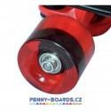 Kolečka pro pennyboard TEMPISH TRANSPARENT RED | 60x45mm, sada 4ks bez ložisek