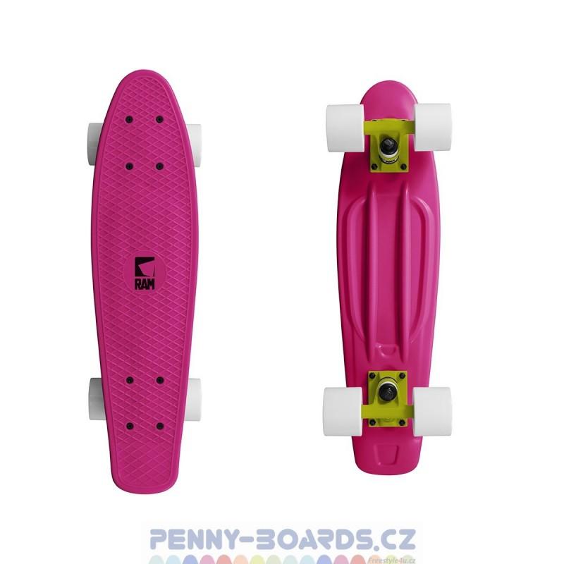 "Pennyboard RAM Dragonfruit Pink 22""   55,9cm Mini Cruiser"