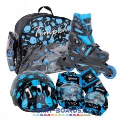 Kolečkové brusle TEMPISH Ufo Baby Skate|Sada s chrániči|34-37|BLUE