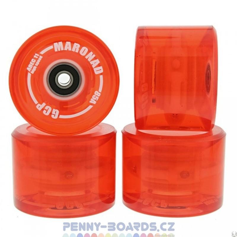 Kolečka MARONAD LED Svítící 69 x 51mm 85A (sada 4ks s ložisky ABEC-11)