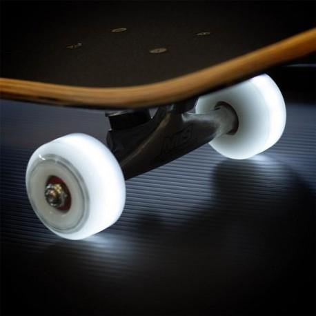 Kolečka svítící pro skateboard NILS EXTREME|54x32mm|4ks| WHITE-LED