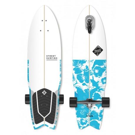 "Longboard STREET SURFING 3-Kolový Shark Attack 36""|91cm| PSYCHO BLUE"