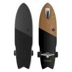 "Longboard STREET SURFING 3-Kolový Shark Attack 36""|91,5cm| KOA BLACK"
