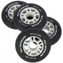 Kolečka pro kolečkové brusle NILS EXTREME | 84x24mm | PU 82A | 4ks | BLACK