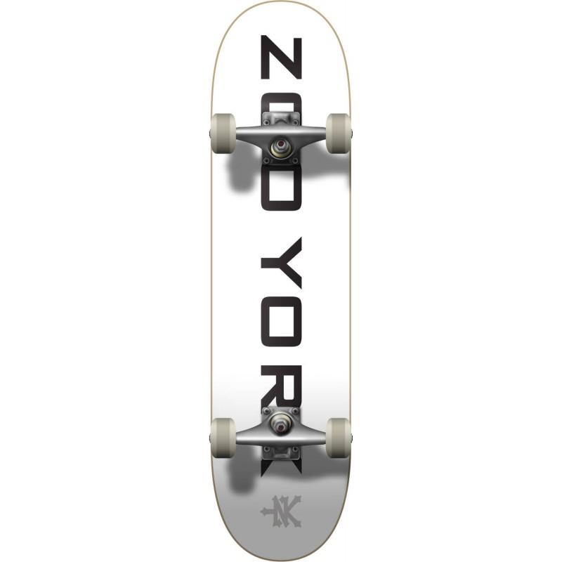 "Skateboard ZOO YORK Logo Block 7.75"" | WHITE"