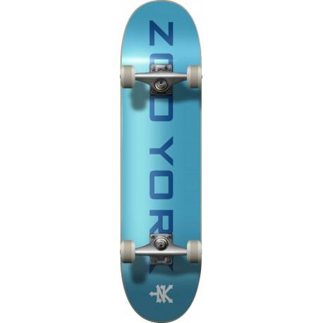 "Skateboard ZOO YORK Logo Block 8"" | BLUE-WHITE"