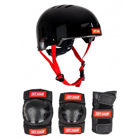 Chrániče TONY HAWK Protective Set Helmet&Padset 4-8 Years | S/M | BLACK