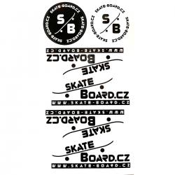 Samolepky SKATE-BOARD.CZ | Sada 4+2 ks
