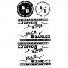 Samolepky SKATE-BOARD.CZ | Sada 2+4 ks