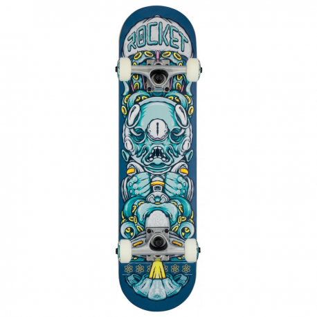 "Skateboard ROCKET Alien Pile-up 7.375"""