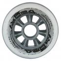 Kolečka 72x24mm pro In-line NILS EXTREME | Sada 4ks | TRANSPARENT