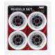 Kolečka 90x24mm pro In-line NILS EXTREME   Sada 4ks   WHITE