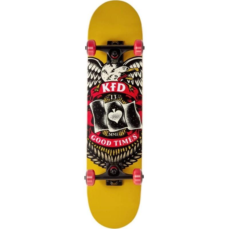 "Skateboard KFD Young Gunz 7.5"" | BADGE YELLOW"