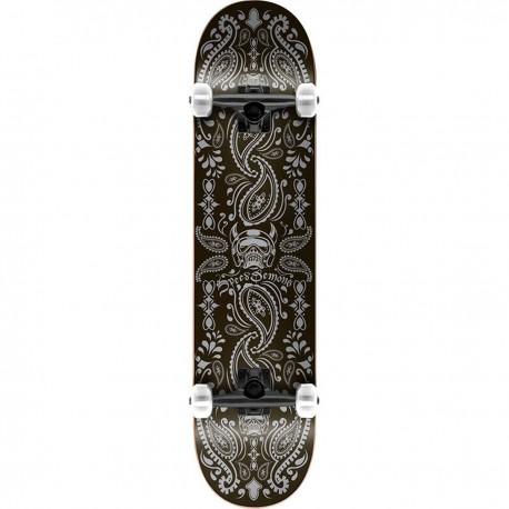 "Skateboard SPEED DEMONS Bandana 7.75"" | BLACK-SILVER"