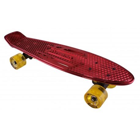 "Pennyboard KARNAGE CHROME Retro Red/Yellow penny board 22,5"" 57cm Cruiser"