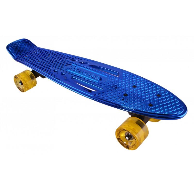 "Pennyboard KARNAGE CHROME Retro Blue/Yellow penny board 22,5"" 57cm Cruiser"