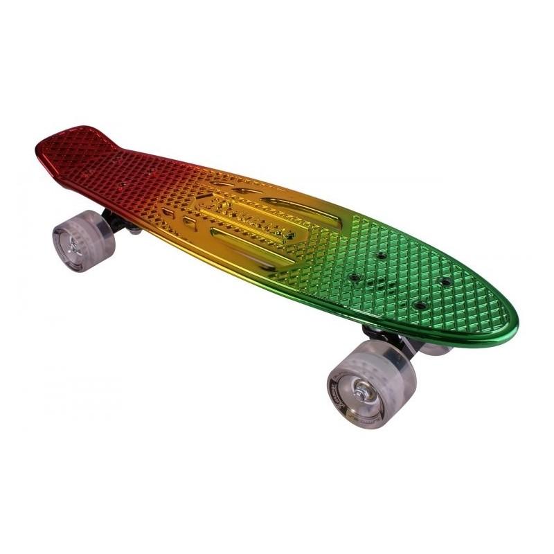 "Pennyboard KARNAGE CHROME MIXED Retro Red/Yellow/Green penny board 22,5"" 57cm Cruiser"