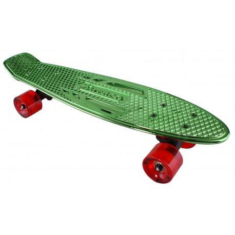 "Pennyboard KARNAGE CHROME Retro Green/Red penny board 22,5""|57cm Cruiser"