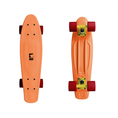 "Pennyboard RAM Peach Orange 22""   55,9cm Mini Cruiser"