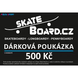 Dárkový poukaz Skate-Board.cz tištěný | 500 Kč