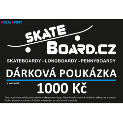 Dárkový poukaz Skate-Board.cz tištěný | 1000 Kč