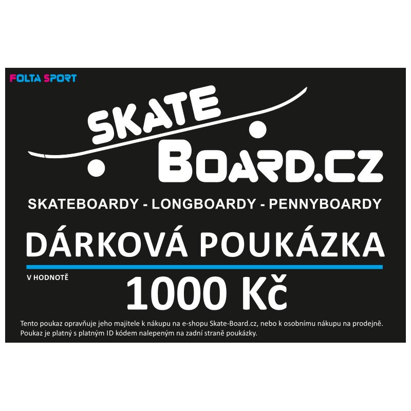 Dárkový poukaz Skate-Board.cz tištěný   1000 Kč