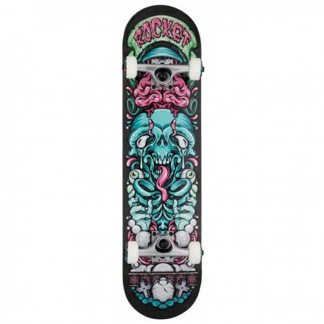 """Skateboard ROCKET Bones Pile-up 7.75""""   BLACK"""