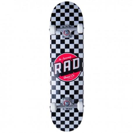 "Skateboard RAD Checkers 7.75"" | BLACK"
