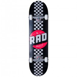 "Skateboard RAD Checkers Stripe 8"" | BLACK"