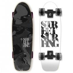 Longboard mini STREET SURFING Kicktail 71cm | WHITE SOUL