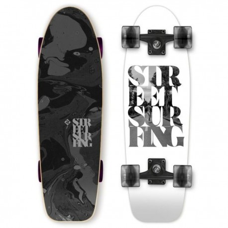 Longboard mini STREET SURFING Kicktail 71cm   WHITE SOUL