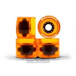 Kolečka pro longboard MINDLESS OUTLAWS ORANGE | 68x57mm, sada 4ks