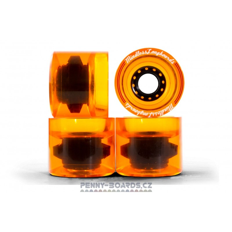 Kolečka MINDLESS Outlaws Orange 68 x 57mm 83A (sada 4ks)