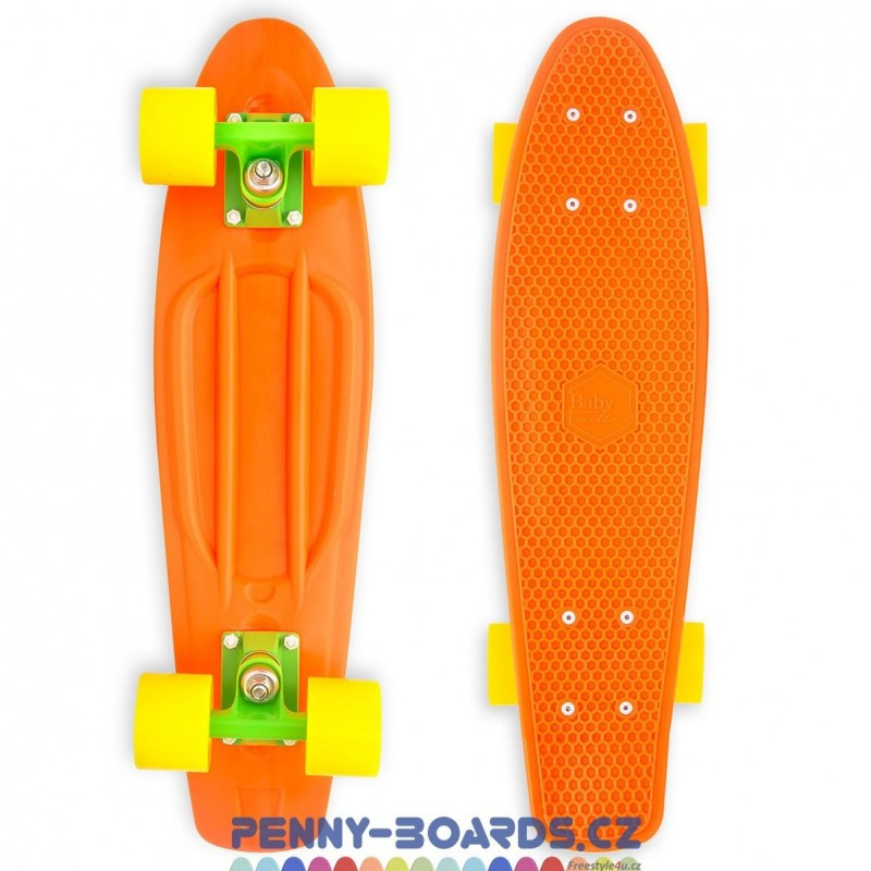 "Pennyboard MILLER Baby Miller Original Fluor Orange penny board 22,5"" 57cm"