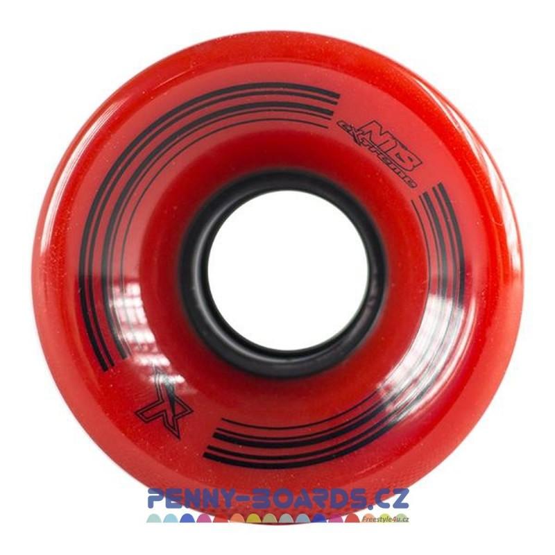 Kolečka NILS EXTREME Pennyboard červené 60 x 45mm | 78A | sada 4ks bez ložisek
