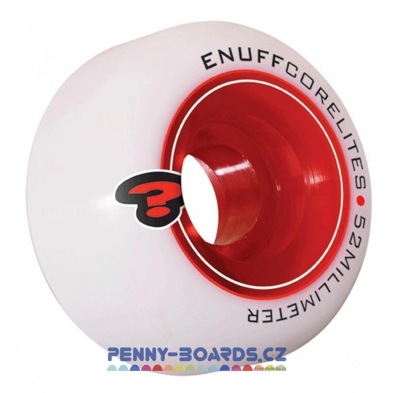 Kolečka ENUFF Bílé-Red 52x30mm | 101A | sada 4ks bez ložisek
