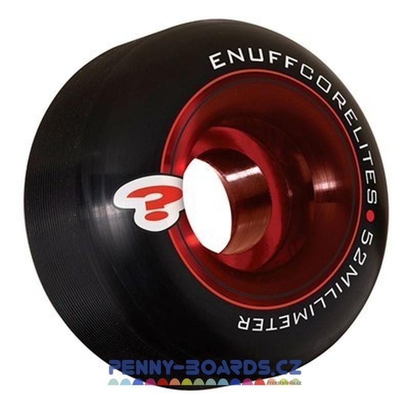 Kolečka ENUFF Černé-Red 52x30mm | 101A | sada 4ks bez ložisek