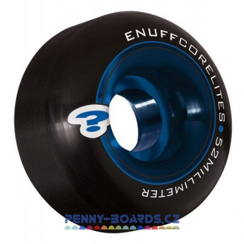 Kolečka ENUFF Černé-Blue 52x30mm | 101A | sada 4ks bez ložisek